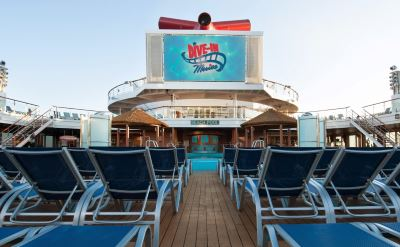 Carnival Sensation movies by pool